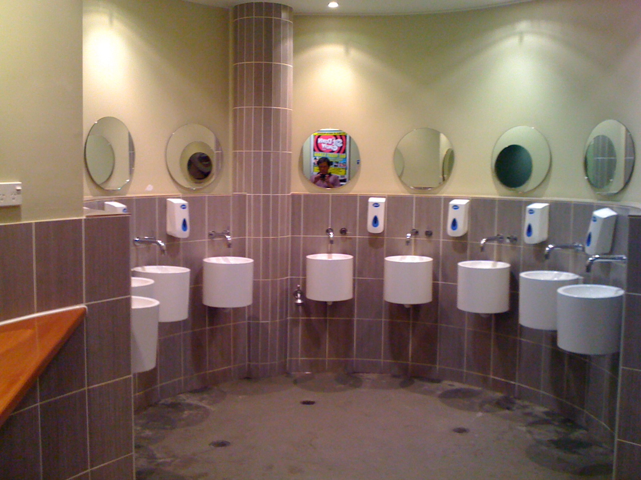 Swish toilets, inside the Blue Sky Brewery, in Cairns.