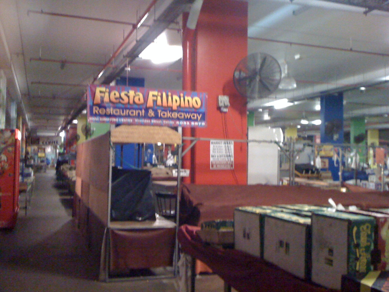 Fiesta Filipino stall, in the Cairns Night Market.