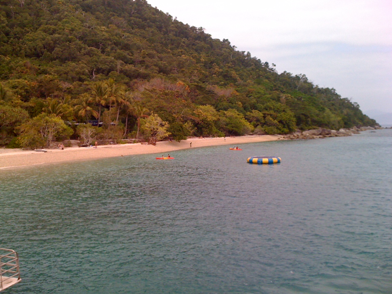 The tropical shores of Fitzroy Island, east of Cairns in the Coral Sea.