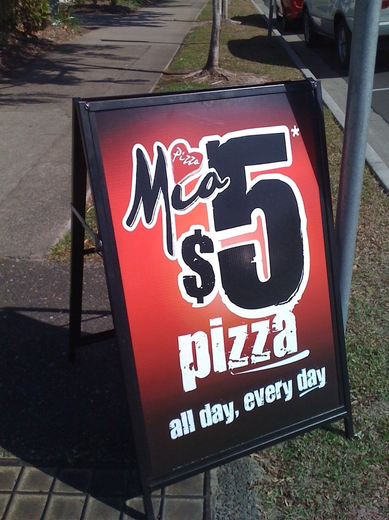Pizza is cheap in Australia!