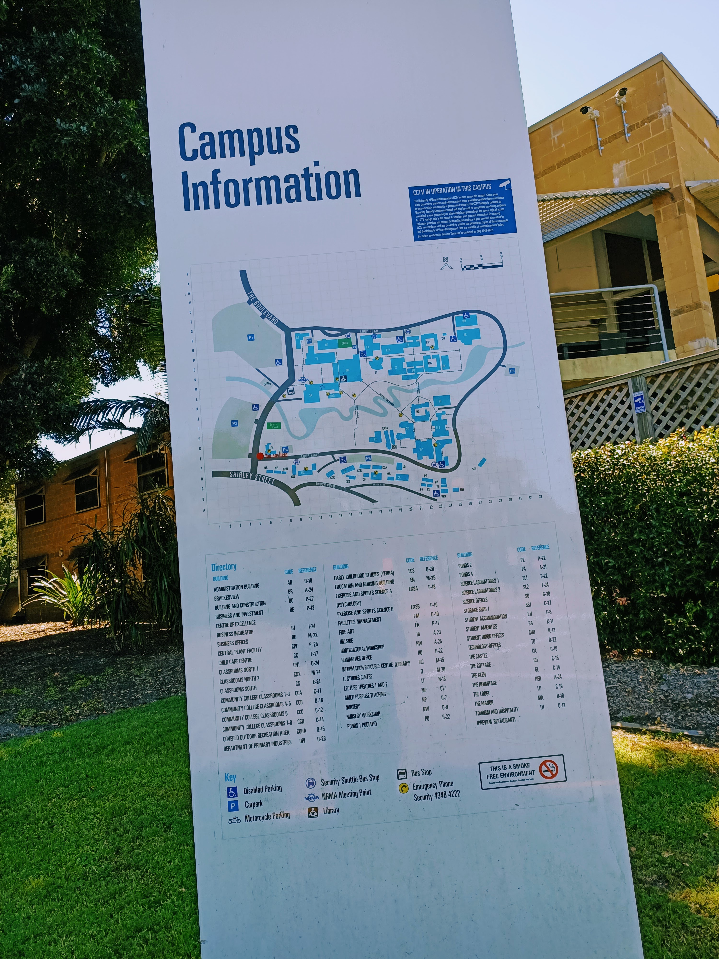 Newcastle University campus at Ourimbah, on the NSW Central Coast.