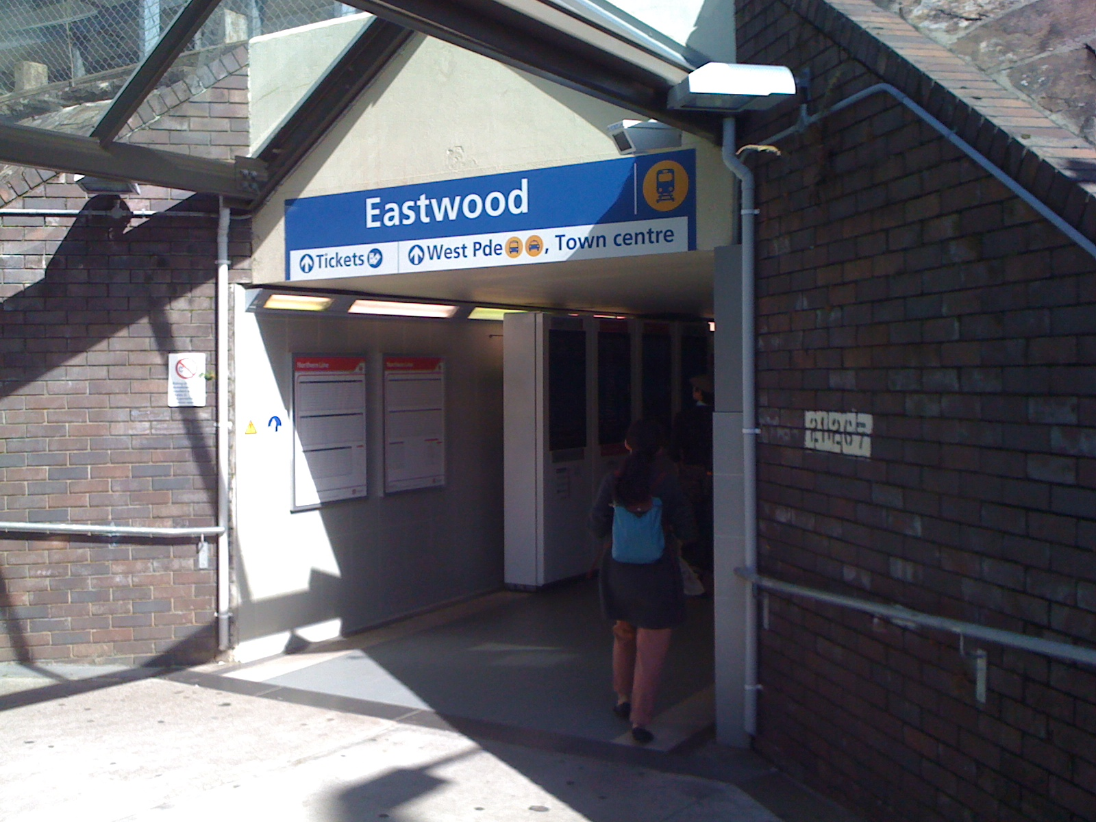 Eastwood Station, on the northern line south of Epping.
