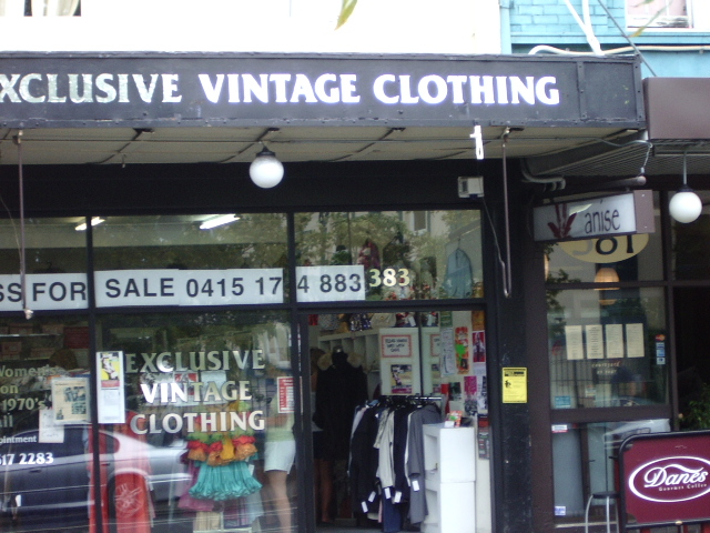 newtown sydney vintage clothes shops and pubs and other places