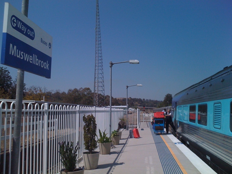Dismounting at Muswellbrook Station, on my way to a life which never happened.