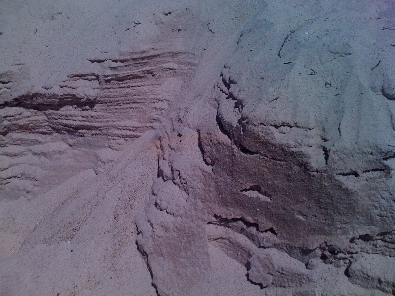 Sand canyons, or a satellite view of an alien world.