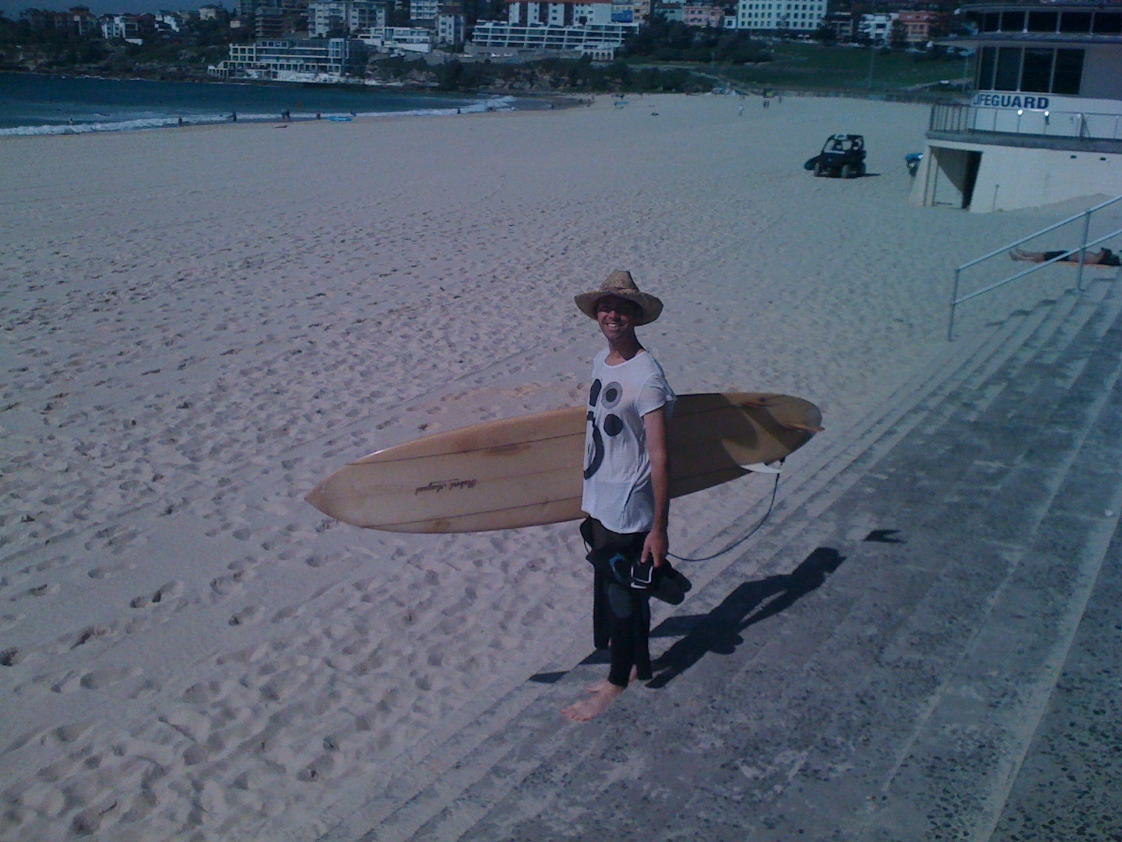 Garnet Mae, on his home turf, at Bondi Beach.