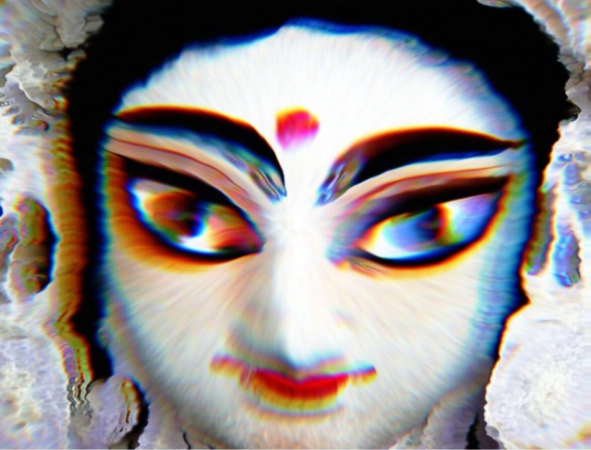 Saraswati, a Hindu goddess