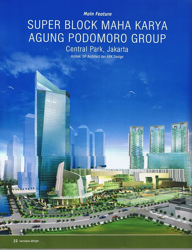 Central Park development in Jakarta, Indonesia