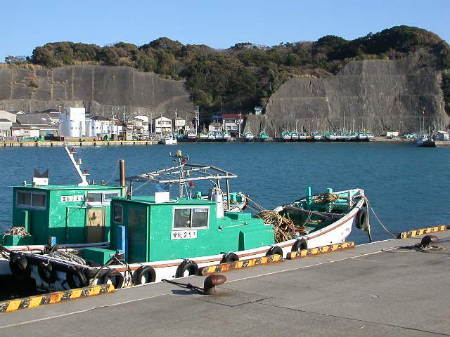 Fishing ships aplenty at the Japanese Pacific Island port of Katsuura