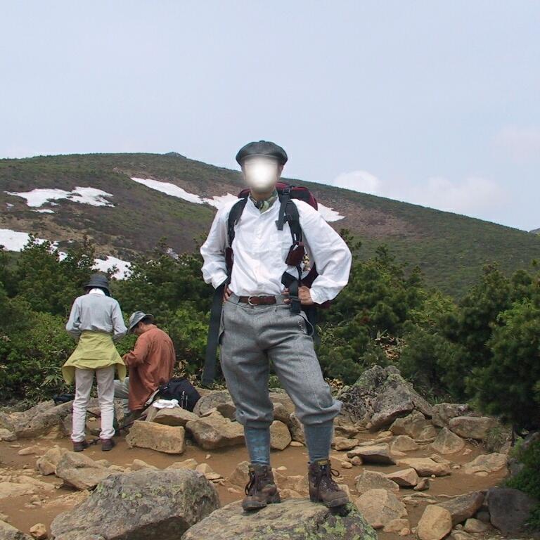 Climbing Mt Adatara