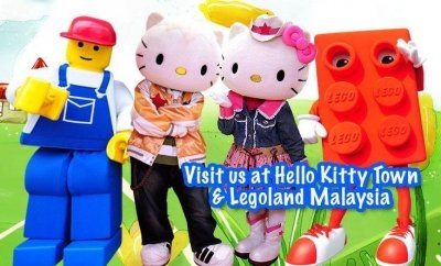 Image courtesy of Legoland and Hello Kitty World, in Malaysia.