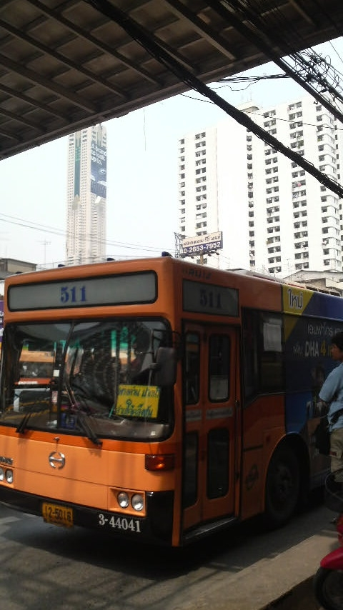Bus #511 in the heart of Bangkok, the capital of Thailand