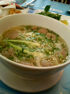Bo Vien meatball pho near the New World Hotel in Ho Chi Minh City