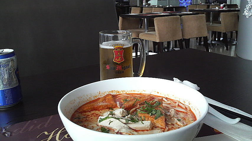 Chicken Laksa, at the Ho Chi Minh City Airport, in Vietnam.