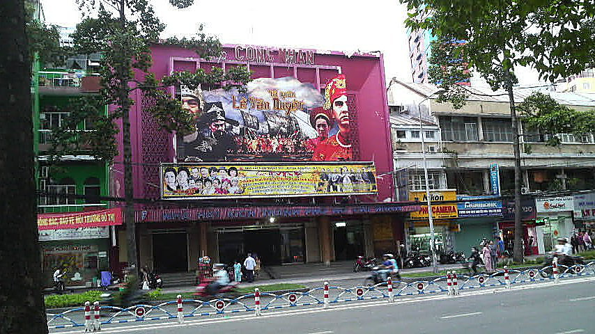 Vietnamese blockbusters seem to be the type of film shown at this popular downtown Saigon cinema