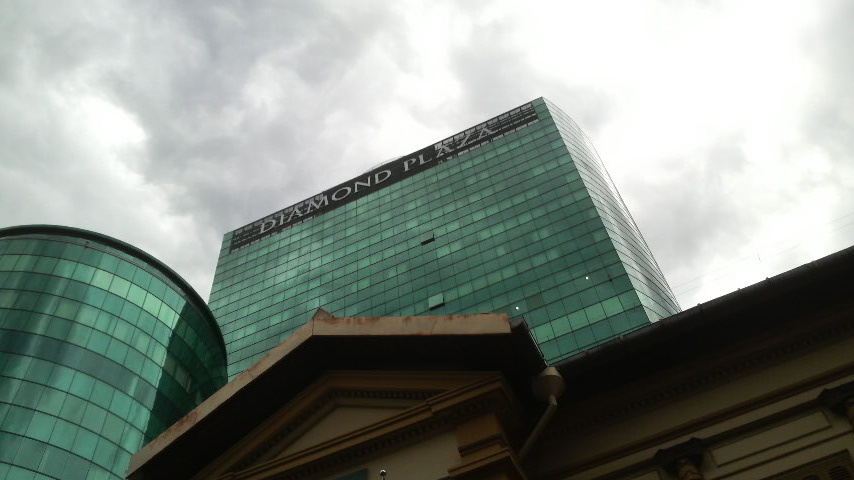 Diamond Plaza viewed after rain in June 2010