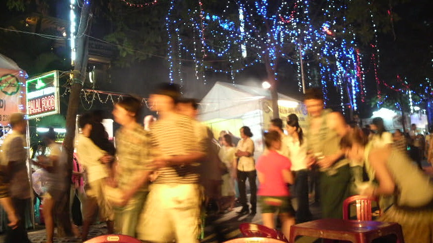 Halal food in the park, Ho Chi Minh City, Vietnam, 2010