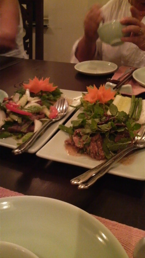 Two wannabe Thai salads at the Sawasdee restaurant in downtown Ho Chi Minh City